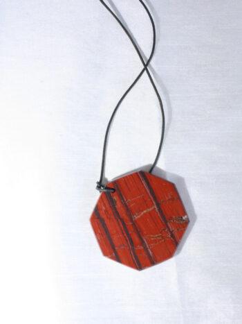 Collier pendentif jaspe petit