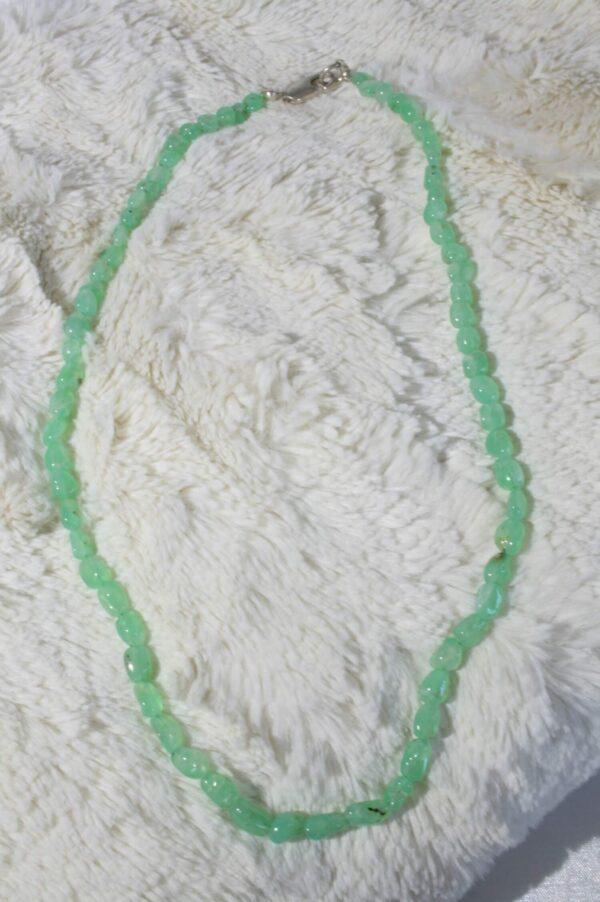 Collier chrysoprase